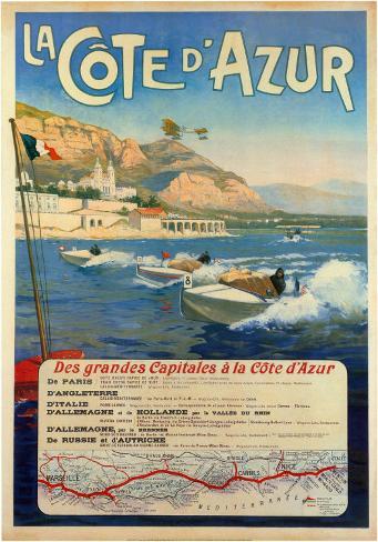 La Cote d'Azur Art Print