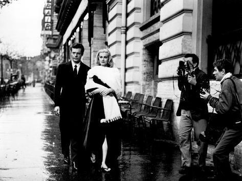La Dolce Vita, Marcello Mastroianni, Anita Ekberg, 1960 写真