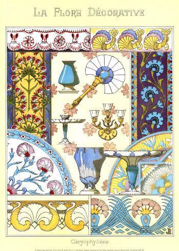 La Flore Decorative, Caryophyll Art Print