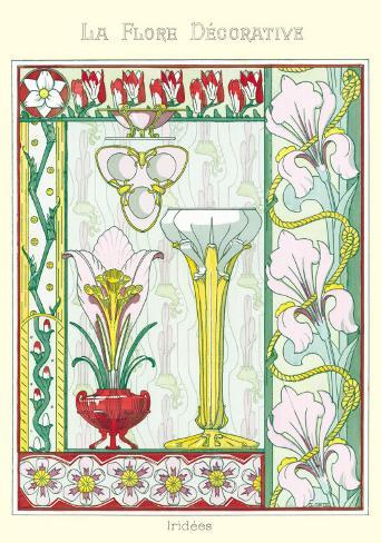 La Flore Decorative, Iridees Art Print