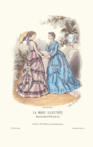 La Mode Illustree Art Print