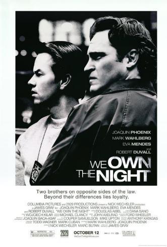 La noche es nuestra|We Own the Night Lámina maestra