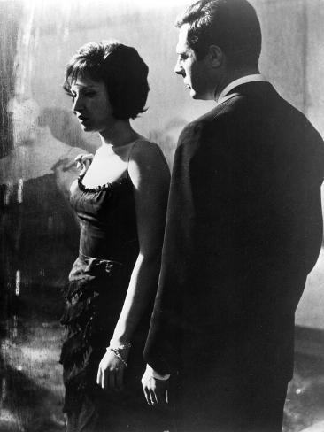 La Notte, Monica Vitti, Marcello Mastroianni, 1961 写真