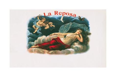 La Reposa Cigar Label Lámina giclée