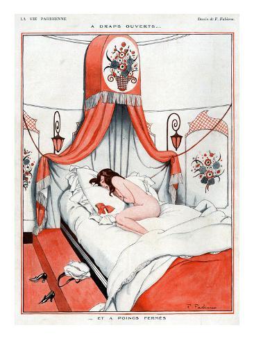 La Vie Parisienne, Fabien Fabiano, 1922, France Stretched Canvas Print