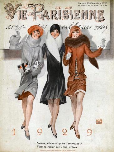 La Vie Parisienne, Magazine Cover, France, 1928 Giclee Print