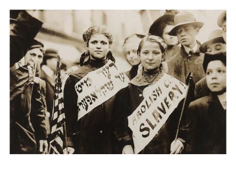 Labor Day Parade of Jewish Girls Art Print