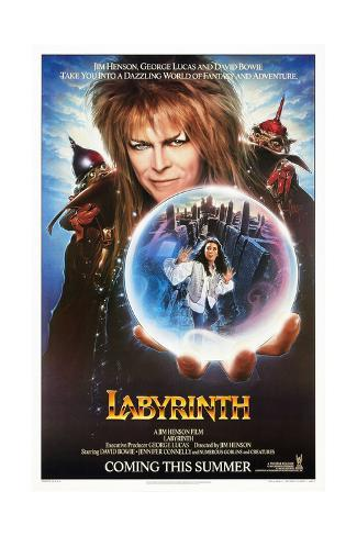Labyrinth, from Top: David Bowie, Jennifer Connelly, 1986 Giclee Print