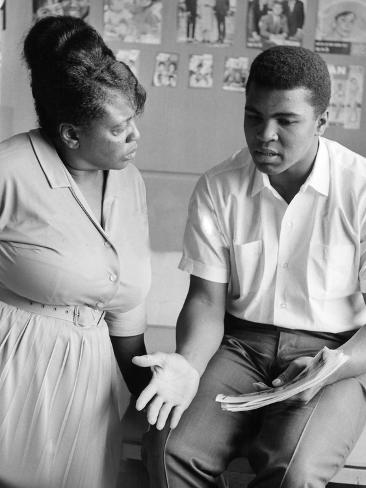 Muhammad Ali and Fannie Lou Hammer Photographic Print