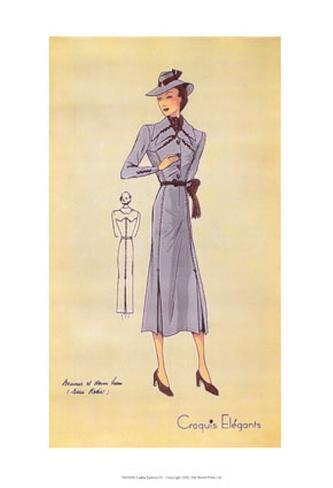 Ladies Fashion IV Art Print