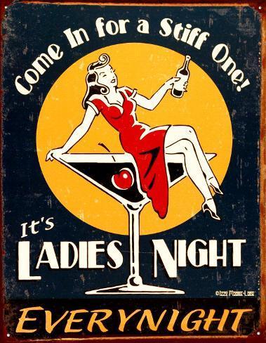 Ladies Night Tin Sign