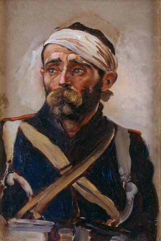 Study of a Wounded Guardsman, Crimea, C.1874 Lámina giclée