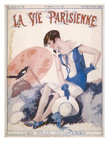 Lady Chats to Magpie Lámina giclée