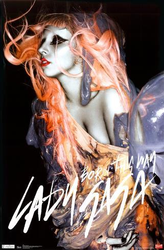 Lady Gaga - Orange Hair Poster