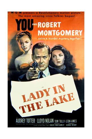 Lady in the Lake - Movie Poster Reproduction Art Print