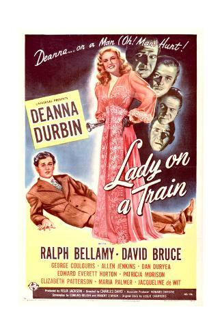 Lady on a Train - Movie Poster Reproduction Stampa artistica
