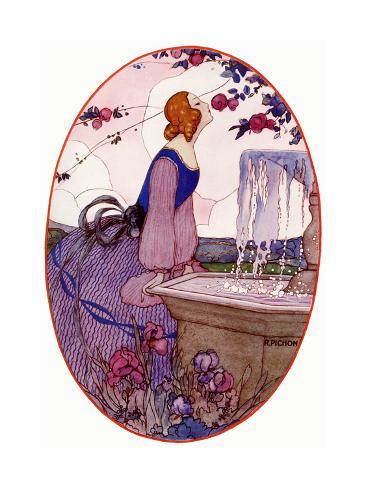 Lady Smelling a Flower, 1923 Stampa giclée