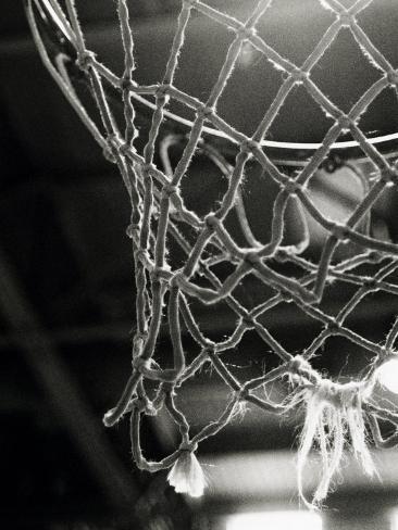 Lähikuva koripalloverkosta Premium-valokuvavedos