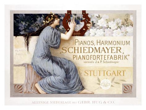 Pianos Harmonium Schiedmayer Giclee Print