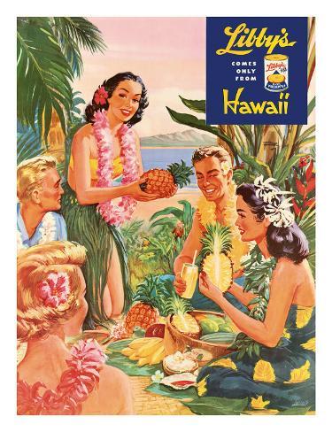 Hawaiian Luau, Libby's Pineapple Hawaii, c.1957 Giclee Print
