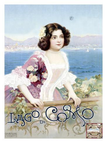 Lago di Como, Italy Giclee Print