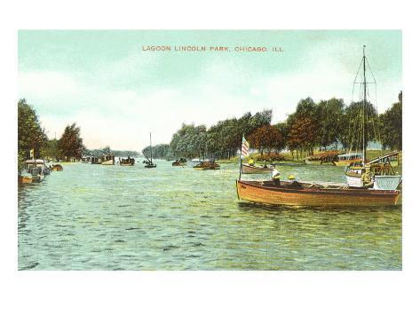 Lagoon. Lincoln Park, Chicago, Illinois Art Print