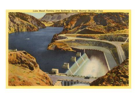 Lake Mead and Hoover Dam Art Print