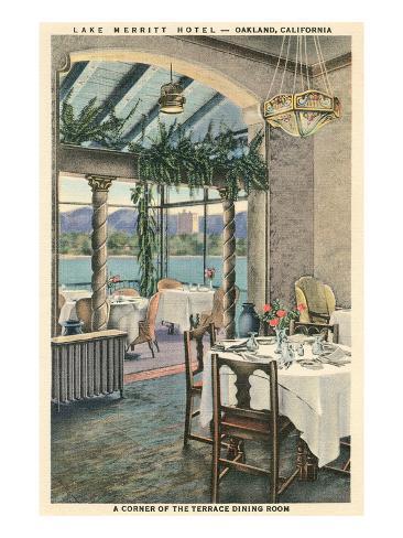 Lake Merritt Hotel, Oakland, California Art Print