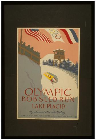 Lake Placid (Olympic Bobsled Run) Art Poster Print Poster