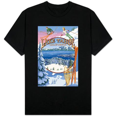Lake tahoe ca winter views magliette su for Shirt printing stockton ca