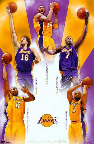 Lakers - Team 2010 Poster