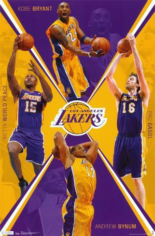 Lakers - Team 2011 Poster