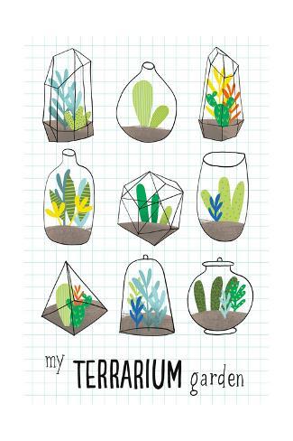 My Terrarium Garden Art Print