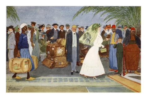Globe Trotters, from 'The Light Side of Egypt', 1908 Giclee Print