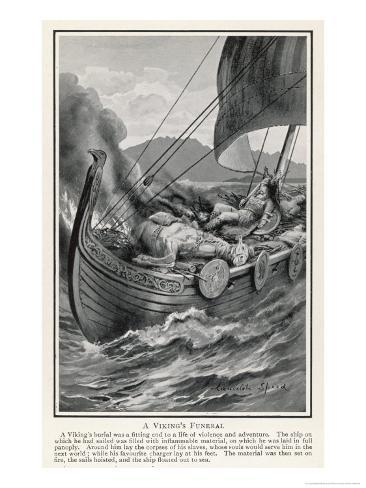 The Funeral of a Viking Chief Giclee Print