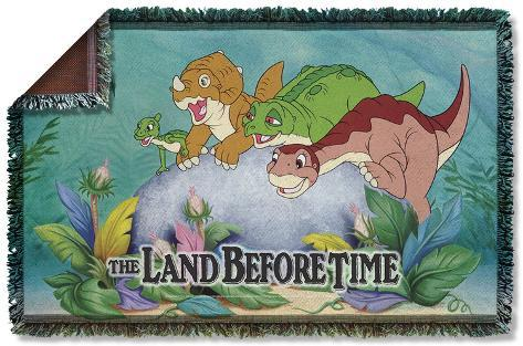 Land Before Time - Littlefoot & Friends Woven Throw Throw Blanket