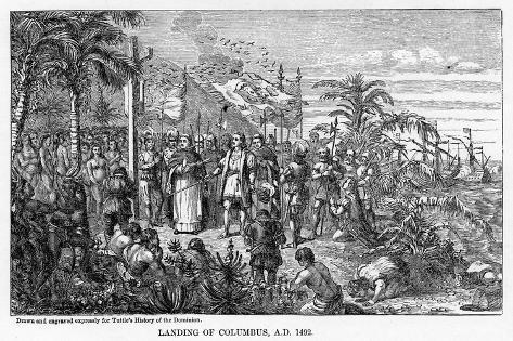 Landing of Columbus, Ad 1492 Giclee Print