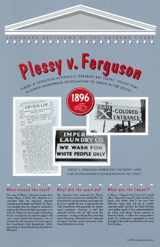 a look at the significant factors in the case of plessy versus ferguson in the united states supreme