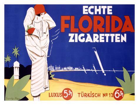 Echte Florida Zigaretten Giclee Print