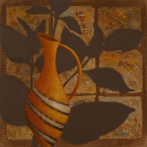 Little Striped Vase I Art Print