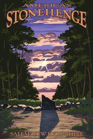 America's Stonehenge, New Hampshire - Sunrise Art Print