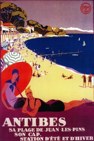 Antibes Vintage Poster - Europe Art Print