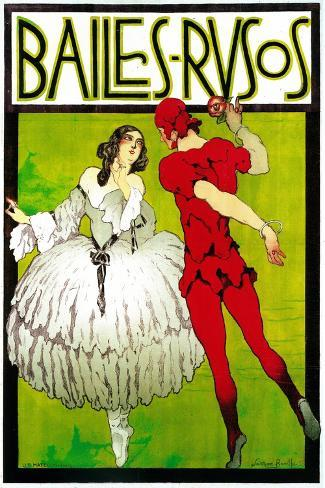 Bailes Rusos (Russion Dance) Theater Art Print