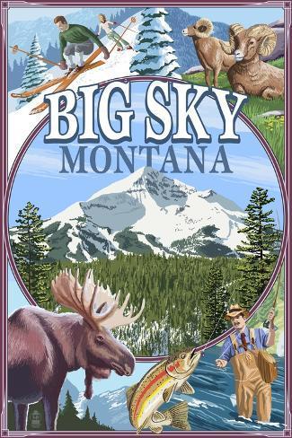 Big Sky, Montana - Scenes Art Print