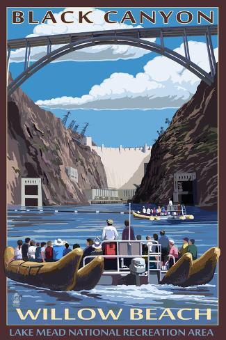 Black Canyon - Willow Beach - Lake Mead National Recreation Area Art Print