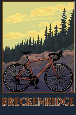 Breckenridge, Colorado - Mountain Bike Art Print