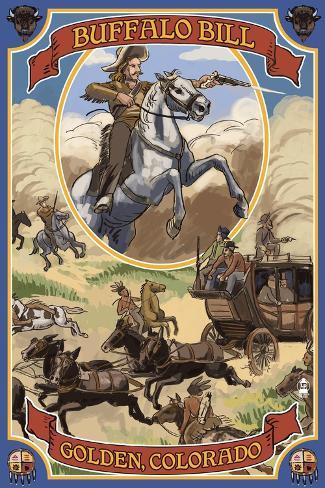 Buffalo Bill Scene - Golden, Colorado Art Print