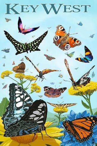 Butterfly Garden - Key West, Florida Art Print