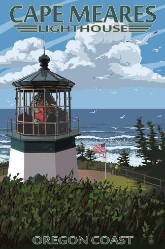 Cape Meares Lighthouse, Oregon Coast Art Print