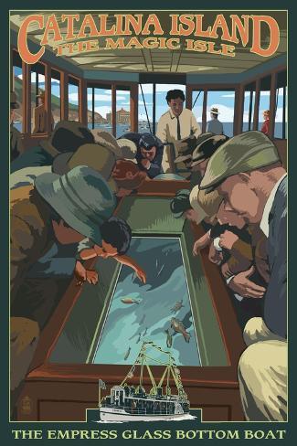 Catalina Island, California - Empress Glass Bottom Boat Art Print